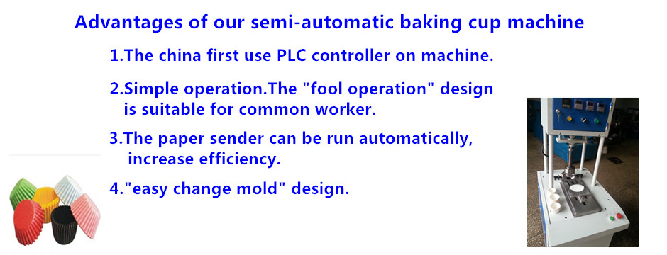 semi Automatic baking cup Machine
