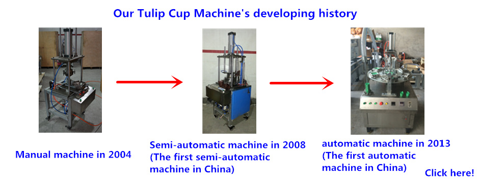 Our tulip cup machine's developing history